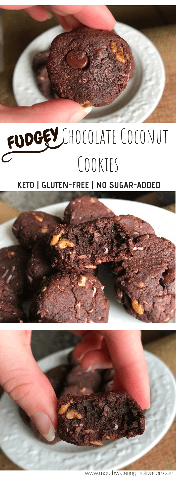 keto chocolate coconut cookies