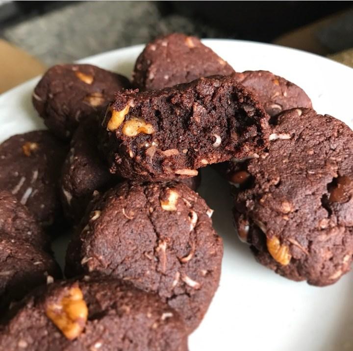 Keto Chocolate Coconut Cookies