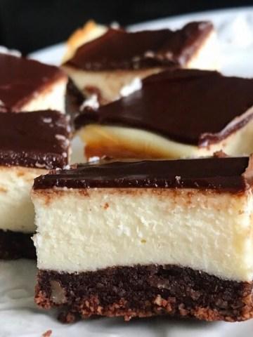 Keto Nanaimo Cheesecake Squares