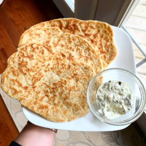 Low-Carb Flat Breads (Yeast Risen)