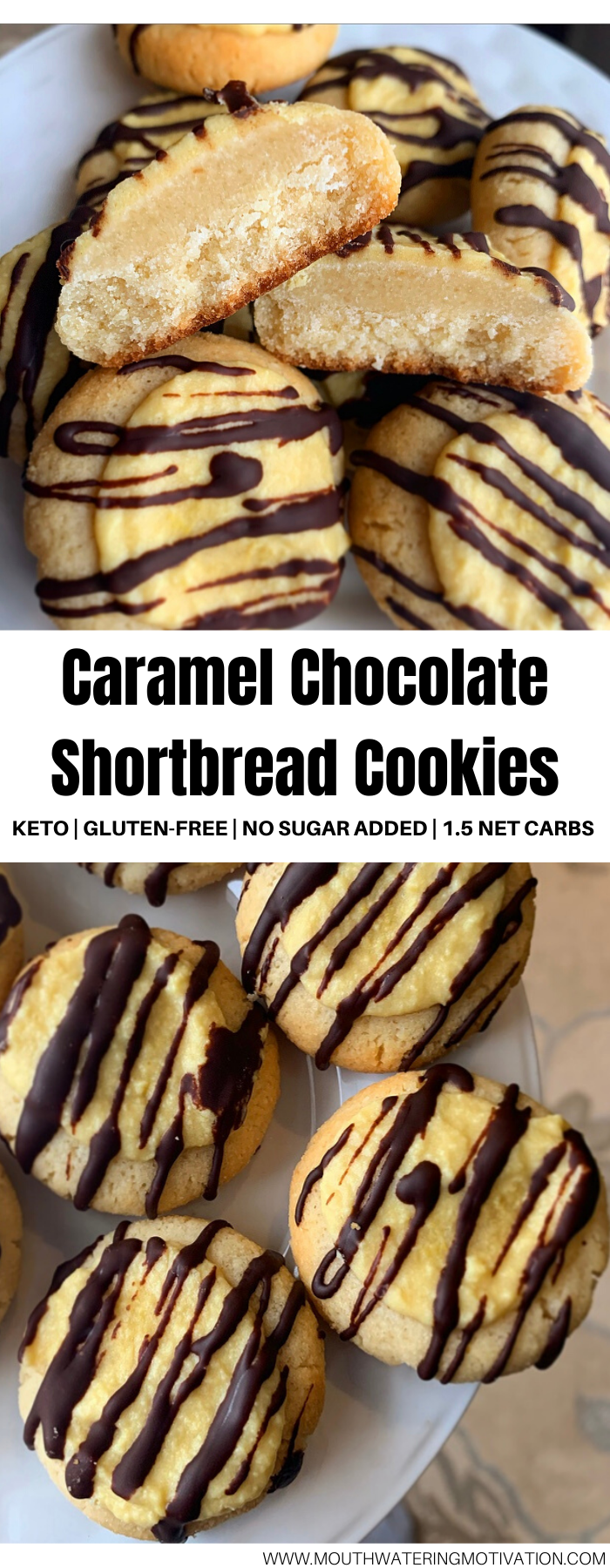 keto caramel chocolate shortbread cookies