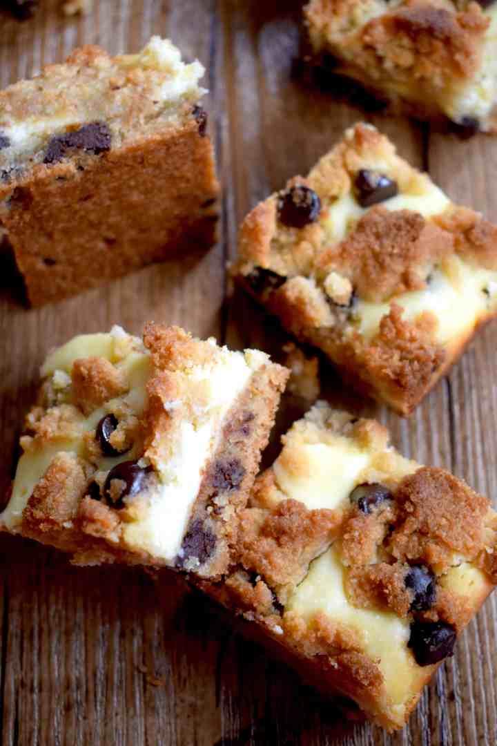 Keto Chocolate Chip Cookie Cheesecake Bars