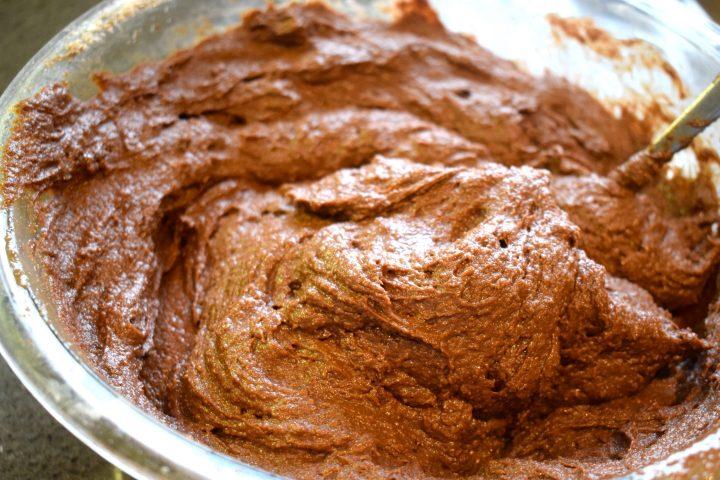 keto chocolate cupcake batter