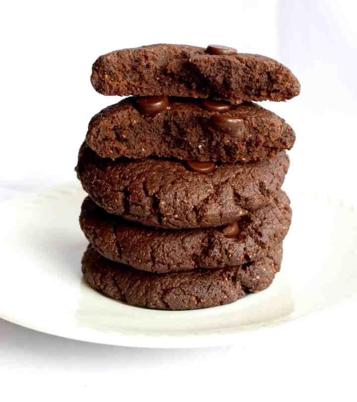 Keto Chewy Double Chocolate Cookies