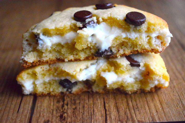 cream cheese stuffed keto chocolate chip cookies