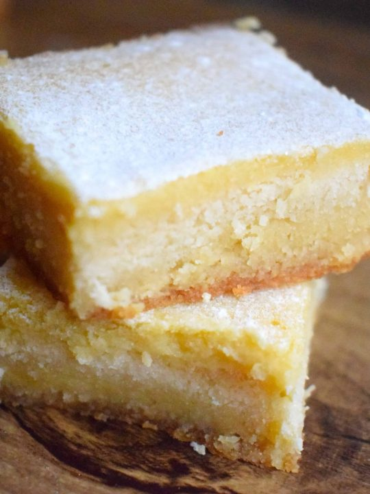 Keto Low Carb Lemon Bars Recipe