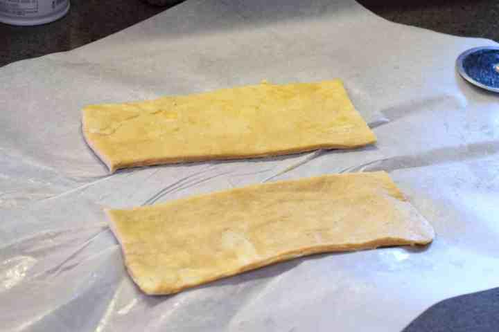 low carb pastry dough pieces