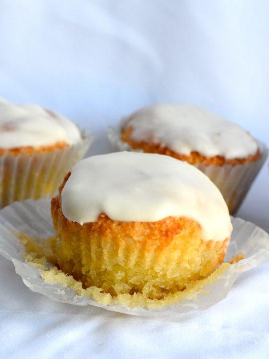 keto glazed coconut muffins