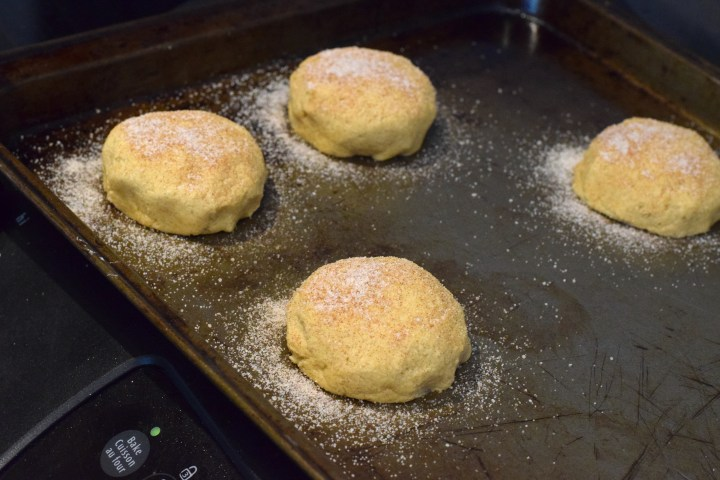 low carb snickerdoodle stuffed cookies