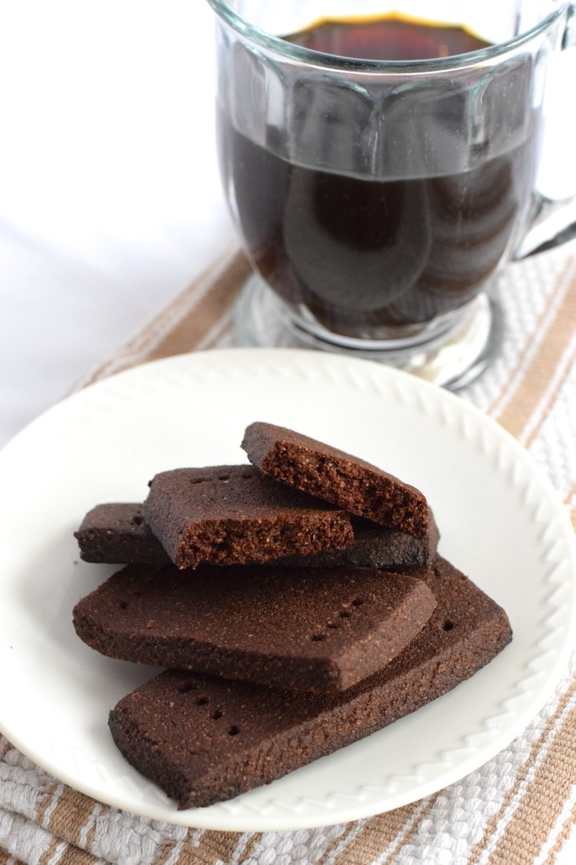 easy keto chocolate shortbread