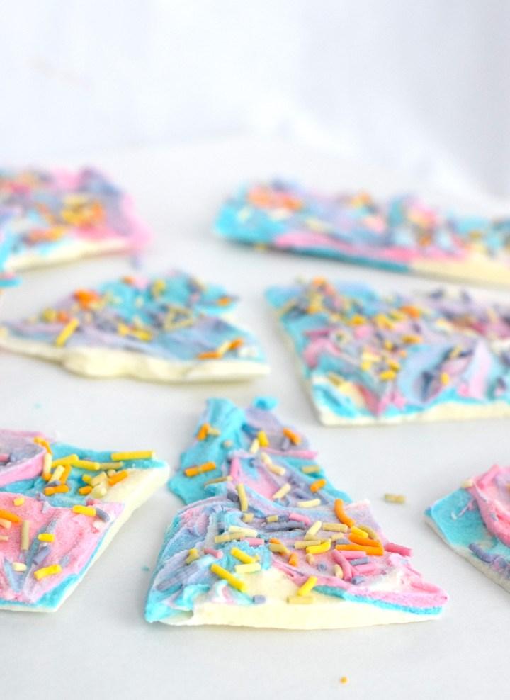 keto unicorn bark recipe
