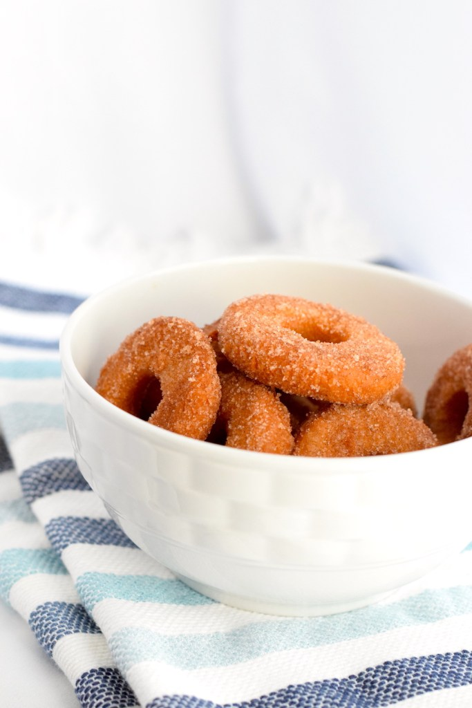 keto fried cinnamon sugar donuts