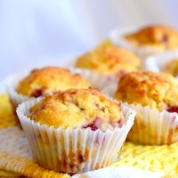Keto Lemon Raspberry Muffins