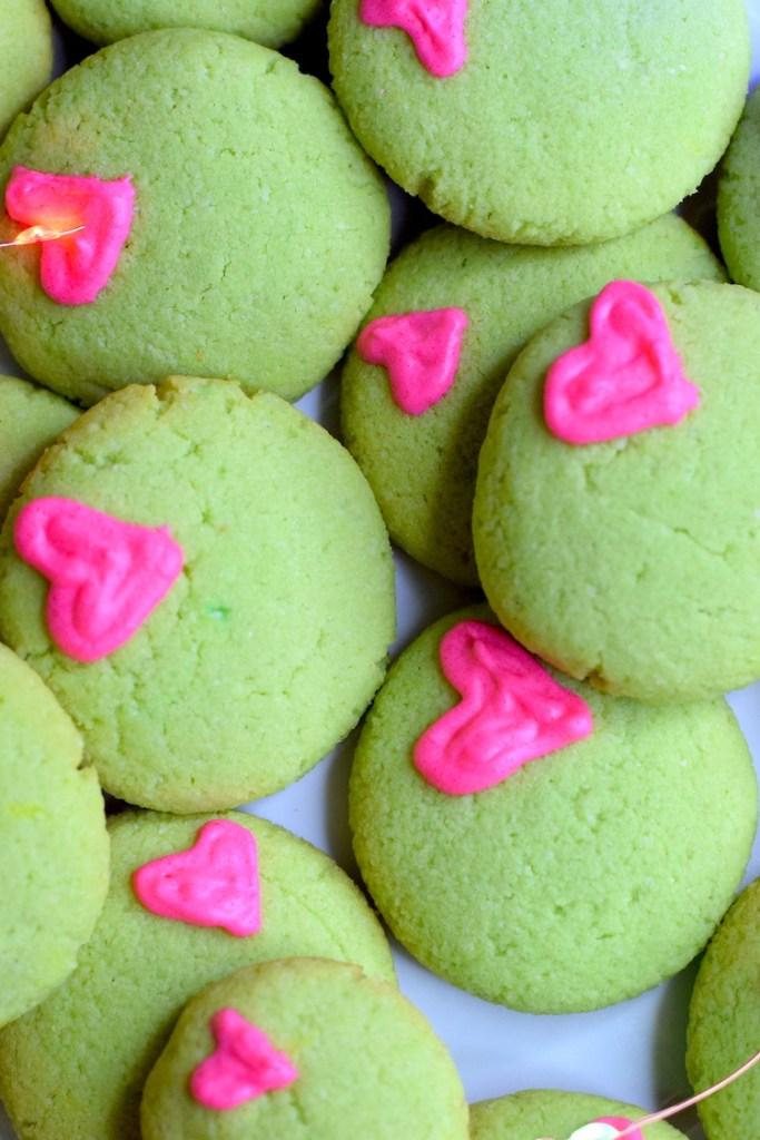 keto christmas grinch cookies