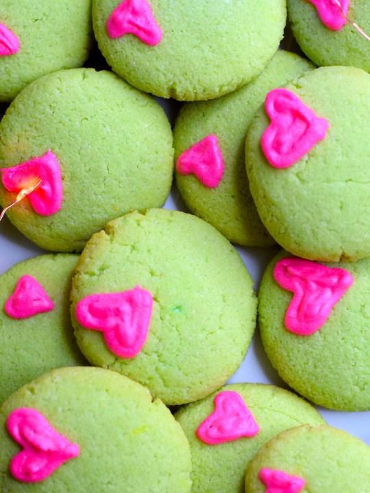 Keto Grinch Christmas Cookies