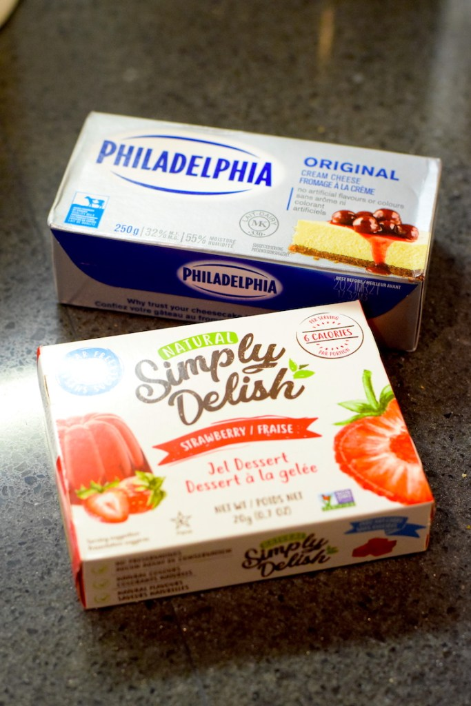 jell-o and cream cheese