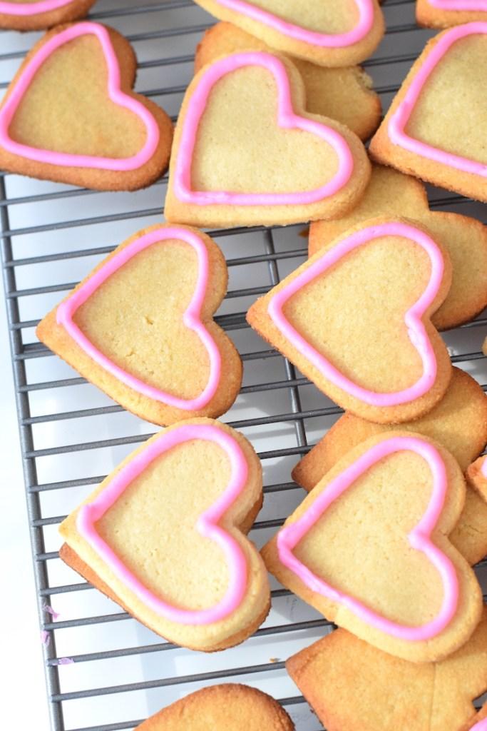 keto valentines day cookies