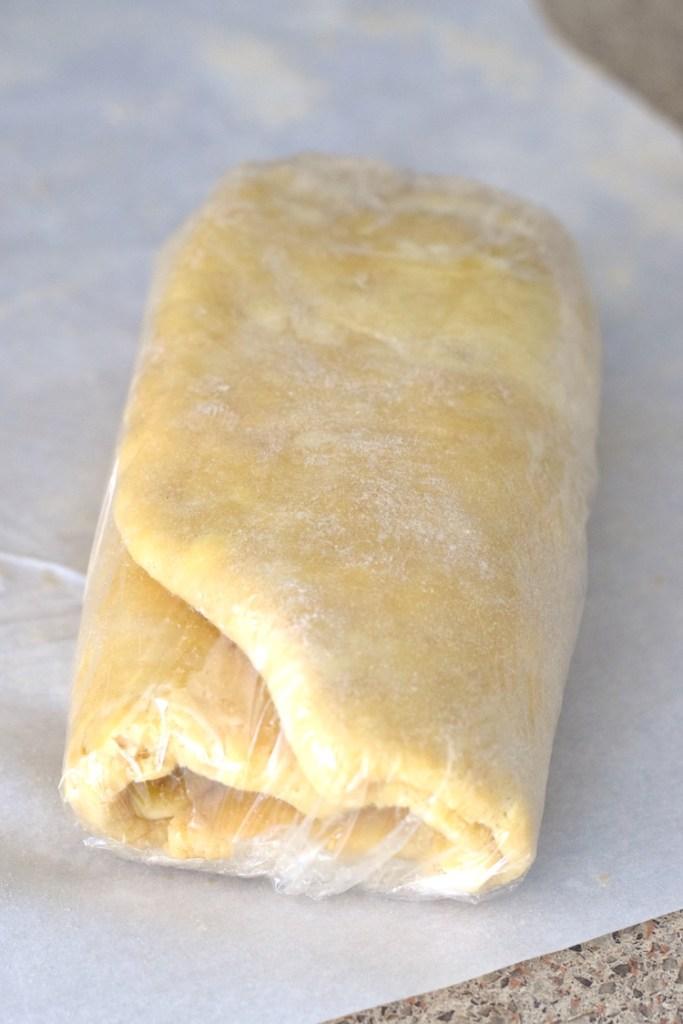 low carb croissant dough folded