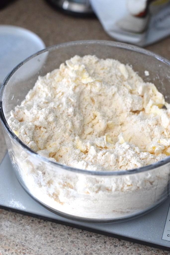 coconut flour, butter