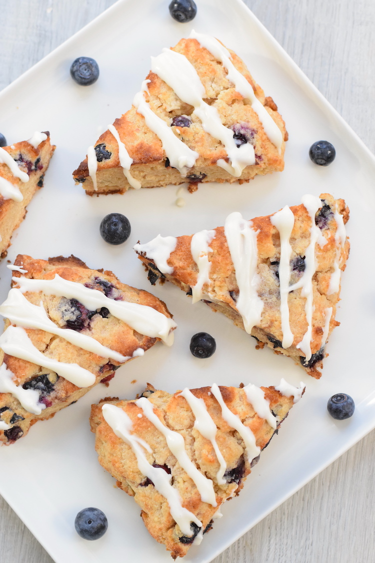 easy low carb blueberry scones