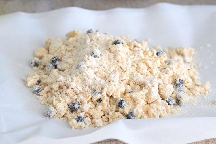 keto blueberry scone dough