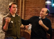 Contestant Willy and comedian Karl Knox