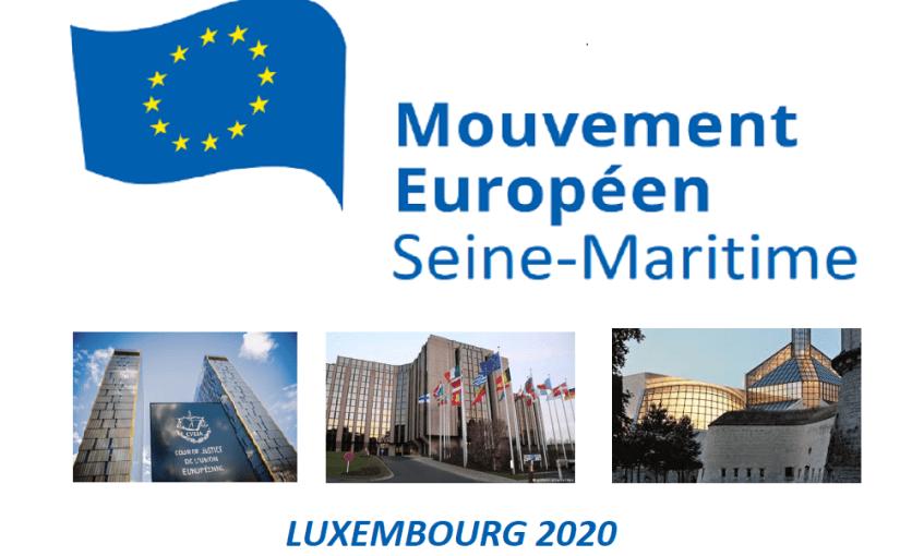 voyage d'étude à Luxembourg les 16 et 17 juin 2020.