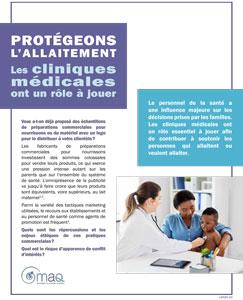 Protégeons l'allaitement : les cliniques médicales ont un rôle à jouer