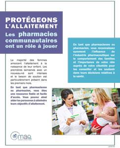 Protégeons l'allaitement: les pharmacies communautaires ont un rôle à jouer