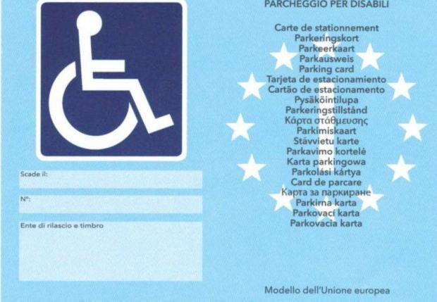 contrassegno disabili europeo