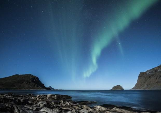 Norway - The northern lights seen from the Lofoten islands