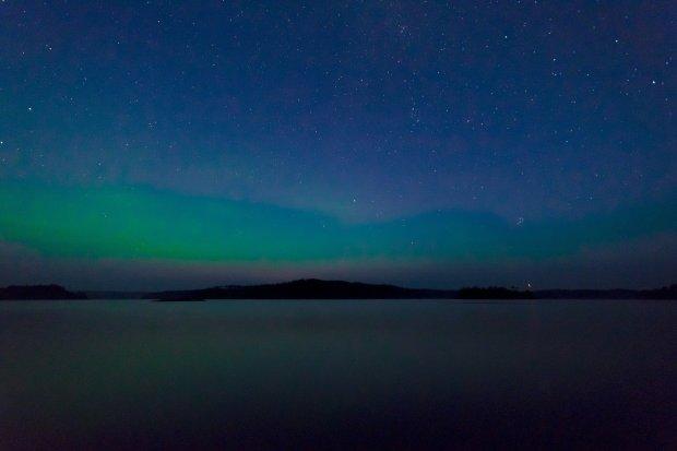 L'aurora boreale in Svezia
