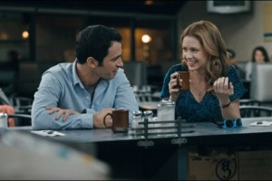 "Chris Messina and Jenna Fischer in ""The Giant Mechanical Man"""