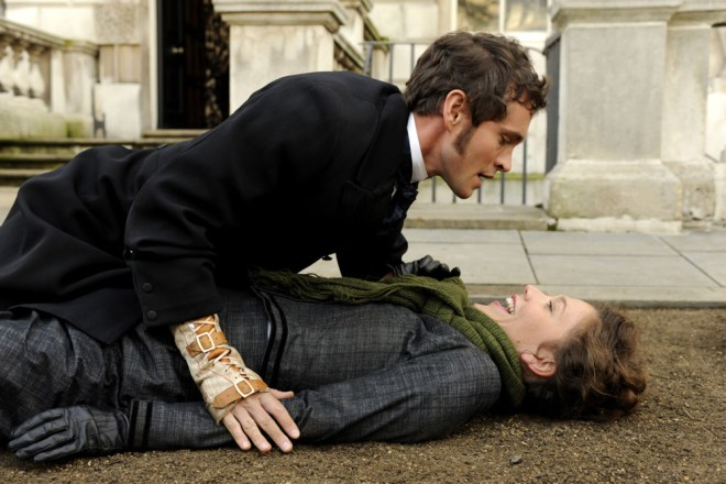 "Hugh Dancy and Maggie Gyllenhaal in ""Hysteria"""