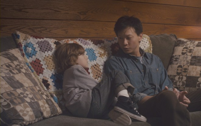 "Sebastian Banes and Patrick Wang in ""In the Family"""