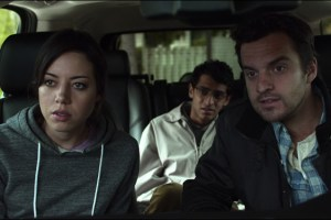 "Aubrey Plaza, Karan Soni and Jake Johnson in ""Safety Not Guaranteed"""