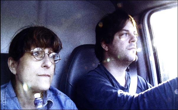 ReneeLeBlanc and Jonathan Caouette in the film Walk Away Renee