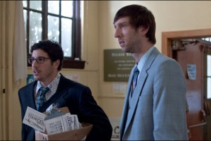 "Jason Biggs and Joel David Moore in Stephen Gyllenhaal's film ""Grassroots"""