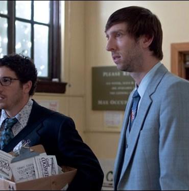 "Jason Biggs and Joel David Moore in Stephen Gyllenhaal's film ""Grassroots"""