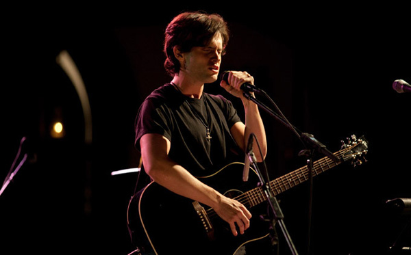 "Penn Badgley as Jeff Buckley in Dan Algrant's film ""Greetings from Tim Buckley"""