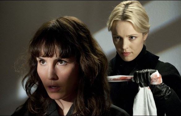 "Noomi Rapace and Rachel McAdams in Brian DePalma's film ""Passion"""