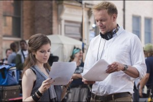 Jason Moore and Anna Kendrick on the Set of the movie Pitch Perfect