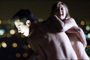 "Chris Messina and Marin Ireland in a scene from Matt Ross' film ""28 Hotel Rooms"""