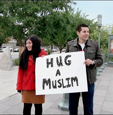 """Negin Farsad and Dean Obeidallah in """"The Muslims Are Coming"""""""
