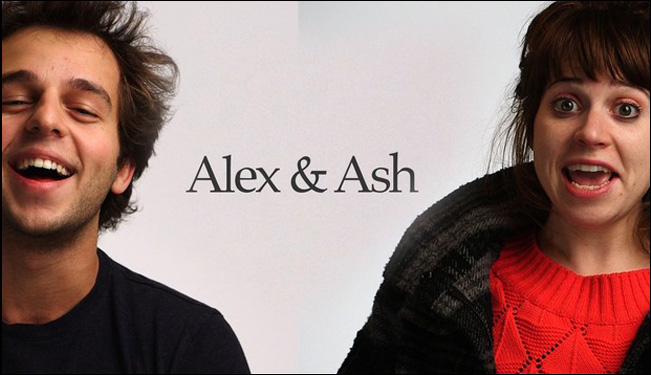 Ashley Rae Spillers and Alex Dobrenko in Steve Mims' film Alex & Ash