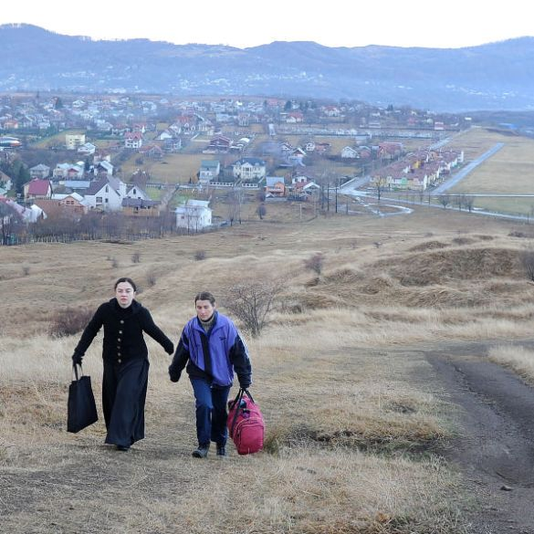 Cosmina Stratan and Cristina Flutur in a scene from Cristian Mungiu's film Beyond the Hills