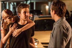 Zach Cregger and Michael Stahl-David in a scene from Bryan Poyser's film The Bounceback