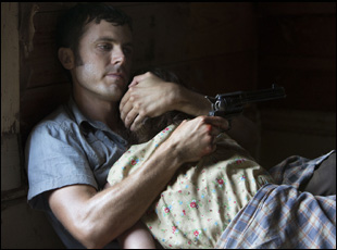 "Casey Affleck and Rooney Mara in David Lowery's film ""Ain't Them Bodies Saints"""