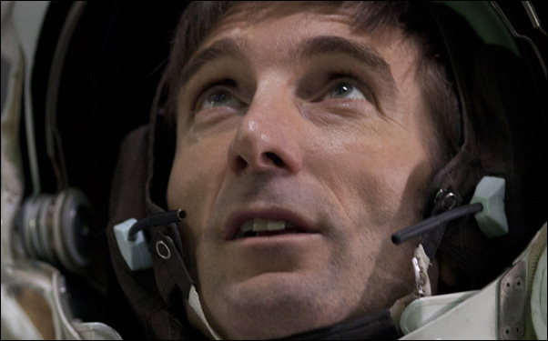 Sharlto Copley as an astronaut in a scene from Sebastian Cordero's science fiction film Europa Report
