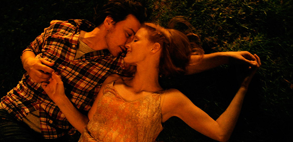 """James McAvoy and Jessica Chastain in """"The Disappearance of Eleanor Rigby"""""""